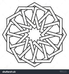 Islamic geometric art, arabic motif, sacred geometry, star mandala, vector illustration