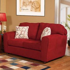 i could just come out of left field and get a red loveseat to go with my grey sofa!