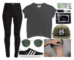 """""""next week"""" by velvet-ears ❤ liked on Polyvore featuring OBEY Clothing, adidas Originals, New Look, The Great, Ray-Ban, MAC Cosmetics, Pyrrha and NOVICA"""