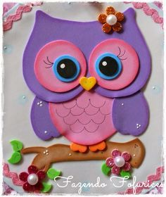 Discover recipes, home ideas, style inspiration and other ideas to try. Kids Crafts, Owl Crafts, Preschool Crafts, Diy And Crafts, Arts And Crafts, Paper Crafts, Foam Sheets, Decorate Notebook, Baby Owls