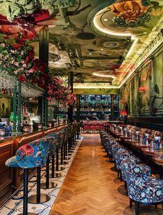 Modern Restaurant Design, Deco Restaurant, Pub Design, Restaurant Concept, Lounge Design, Bar Lounge, Pool Bar, Tiki Bar Decor, Bar Interior