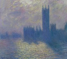 The Houses of Parliament, Stormy Sky by Claude Monet in oil on canvas, done in Now in the Musee des Beaux-Arts. Find a fine art print of this Claude Monet painting. Claude Monet, Monet Paintings, Impressionist Paintings, Renoir, Wall Art Prints, Fine Art Prints, Canvas Prints, Wall Mural, Cgi