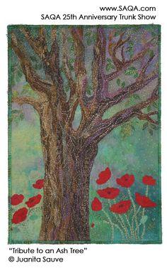 Art quilt by Juanita Sauve #artquilts #SAQA