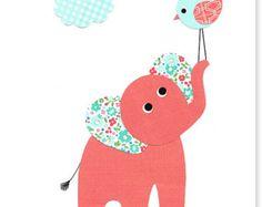 Artículos similares a Elefante gris y rosa vivero pared arte mariposas habitación decoración Baby Shower de globos niña regalo niño bebé niña decoración elefante lona en Etsy