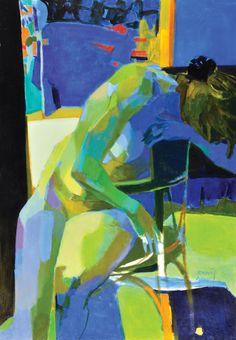 Mujer en la Silla, óleo sobre lienzo, 100x70cm, 2012.  www.gracielagenoves.com.ar