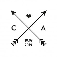 "Stamp cross arrows ethnic - Buchstabe ""a"" - Tatouage Wedding Anniversary Tattoo, Wedding Date Tattoos, Wedding Vows, Ethnisches Tattoo, Glyph Tattoo, Tattoo Arrow, Arrow Tattoo Design, Tattoo Tree, Family Tattoos"