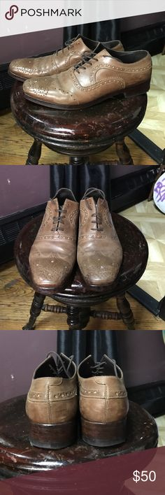 Sciapo Italian leather lace up Oxford shoes Sciapo Italian brand brown leather lace up Oxford shoes. Amazingly made and the heel and toe have the reinforcements so there is very minimal wear. Cool squared toe. Sciapo Shoes Oxfords & Derbys