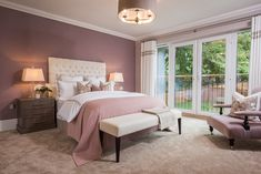 This warm neutral base makes for a calming sanctuary. Incoporate the Heart Wood palette through a feature wall or soften a design by incorporating through styling and accessories. Bedroom Color Schemes, Bedroom Colors, Colour Schemes, Oak Bedroom, Bedroom Decor, Bedroom Ideas, Redrow Homes, Studio Room, Guest Bedrooms
