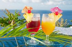 Tropical drinks don't always need alcohol to make them delicious!  Here are a few recipes for some non alcoholic tropical drinks the kids will love you for!