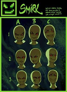 Scary facial references