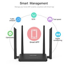AC1200 Dual Band High Power Wireless Router/&Designed 4 antennas/& Range Extender