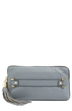 MILLY 'Astor' Pebbled Leather Clutch. #milly #bags #shoulder bags #clutch #leather #hand bags #