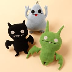 monster dolls Plus: Cute, inventive designs. Minus: Could differ in sizes/be bigger. Improvements: I would make them 3 different sizes.