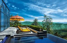Wildflower Hall, Shimla in the Himalayas offers the most incredible views of the Himalayas in India