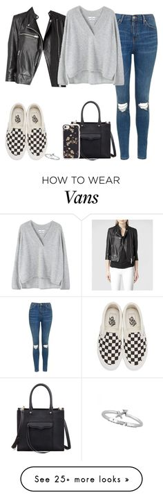 """""""Untitled #277"""" by findthefinerthings on Polyvore featuring AllSaints, Topshop, Vans, MANGO, Rebecca Minkoff and Casetify"""