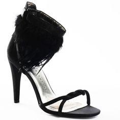 Carla Heel - Black Satin - Yvonne's #shoes