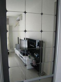 14.5 cm x 6 pcs Telhado Quadrado Espelho Do Teto Adesivo De Parede De Cristal 3D Acrílico DIY Início Decal Sala adesivo de parede