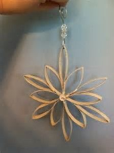 Image result for Toilet Paper Roll Christmas Crafts Snowflake