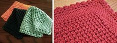 Knit This Charming Diagonally Knitted Dishcloth. This pattern has more pizzazz and more challenging to make! Download the FREE pattern ...