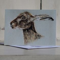 Country Living / Nic Vickery Animal Artist / Hare Greetings Card