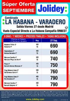 Súper Oferta Septiembre.Combi La Habana-Varadero desde 690€ Tax incluidas. - http://zocotours.com/super-oferta-septiembre-combi-la-habana-varadero-desde-690e-tax-incluidas/