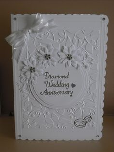 diamond anniversary wedding anniversary anniversary cards bridal ...