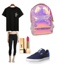 """""""Untitled #132"""" by moda-makeup ❤ liked on Polyvore featuring Miss Selfridge, Alo Yoga, Puma and Yves Saint Laurent"""