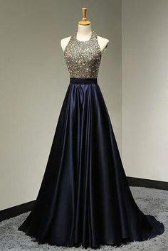 Halter Backless Beading Handmade Prom Dress,Long Prom Dresses,Prom Dresses,Evening Dress, Prom Gowns, Formal Women Dress,prom dress