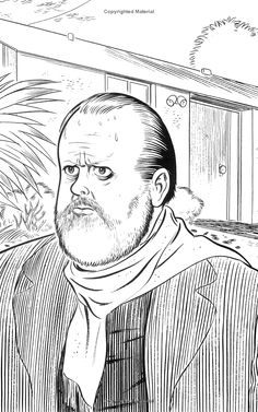 Orson Welles- from the 2004 book Talk to Her by Kristine McKenna | Illustrator: Daniel Clowes