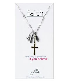 Look what I found on #zulily! Silvertone Faith Inspiration Pendant Necklace #zulilyfinds