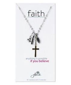 Silvertone Faith Inspiration Pendant Necklace #zulily #zulilyfinds