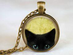 CHARMANT - minimalistische Katzen Kette schlicht von Schloss Klunkerstein Designer Schmuck Manufaktur & Armbanduhren für besondere Menschen. Naturschmuck, Trendschmuck, Geschenke und antike Raritäten! auf DaWanda.com