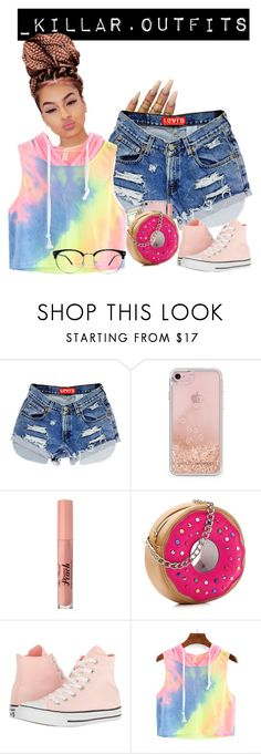 """""""Untitled #42"""" by shaeshaexx21 ❤ liked on Polyvore featuring Floss Gloss, Rebecca Minkoff, Too Faced Cosmetics, Betsey Johnson and Converse"""