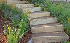 Kathy Collins features fresh images of Amazing Building Outdoor Stairs How To Build Outdoor Steps On A Slope on Wisatakuliner.xyz to come up with pla. Outdoor Steps, Outdoor Landscaping, Outdoor Gardens, Outdoor Decor, Landscaping Ideas, Landscape Stairs, Landscape Design, Garden Design, Better Homes And Gardens