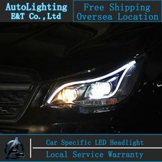 553.35$  Buy now - http://alid9m.shopchina.info/go.php?t=32476068843 - Car Styling For  Forester headlights 2013 Forester LED Headlight Automobile angel eye led drl H7 hid Bi-Xenon Lens 553.35$ #magazineonlinebeautiful