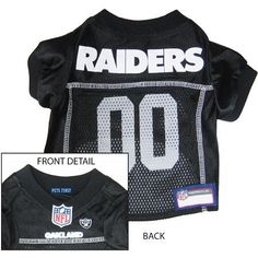 Oakland RAIDERS NFL dog Jersey in color Black 96332ddff