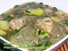 One of my favorite version of tinola is with sotanghon. I have posted a couple of tinola dish before, Tinolang Manok with Sotanghon and Chicken with Ampalaya Tendrils and Sotanghon. Filipino Dishes, Filipino Recipes, Asian Recipes, Ethnic Recipes, Filipino Food, Filipino Culture, Asian Foods, Beef With Oyster Sauce, Noodles
