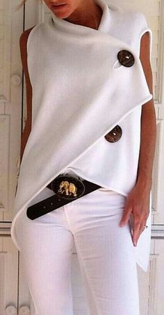 Summer #style this is lovely for summer spring ladies LOVE winter WHITE too! WHITE is good all the time !