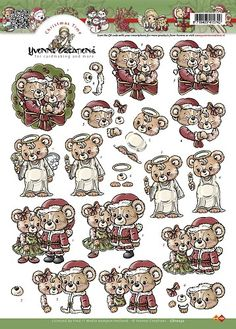 3D Knipvel - Yvonne Creations - Kerst beertjes
