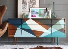 7 Creative Ways to Transform Boring Furniture 7 Creative Ways to Transform Boring Furniture & Apartment Therapy The post 7 Creative Ways to Transform Boring Furniture & Diy Möbel appeared first on Geometric paint . Upcycled Furniture, Furniture Projects, Furniture Makeover, Painted Furniture, Home Furniture, Furniture Design, Dresser Makeovers, Painted Sideboard, Dresser Ideas