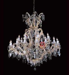 Decorative crystal chandelier lighting 25 lights dining room chandelier C9261 117cm W x 102cm H