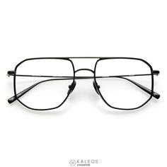801251a33a3 The KALEOS EYEHUNTERS    WILLARD Eyeglasses for men offers a unique  geometric aviator shape crafted