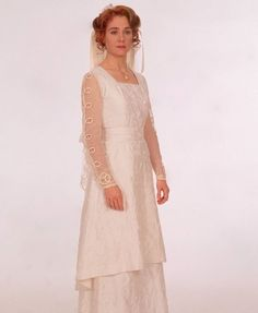 Anne in her wedding dress