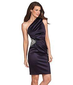 Eliza J One Shoulder Dress #Dillards