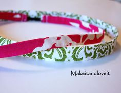 Fabric headbands - regular headbands are uncomfortable with the glasses!