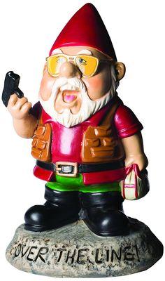 """Amazon.com : BigMouth Inc """"Over the Line!"""" Garden Gnome Statues : Patio, Lawn & Garden"""