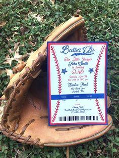 Baseball Birthday Party Invitation, Baseball Birthday Party, Baseball Invitation, Baseball Party Invitation, Baseball 1st Birthday Themed Parties, Party Themes, Baseball Party Invitations, Baseball Birthday Party, Rsvp, Handmade Gifts, Etsy, Kid Craft Gifts, Theme Parties