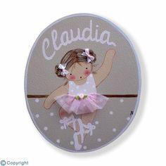 Placa de puerta personalizada: Niña bailarina (ref. 12156-04)