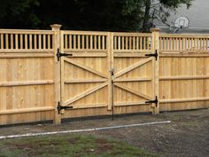privacy fence driveway gate | fence company in ma builds a double drive gate this double drive gate ...