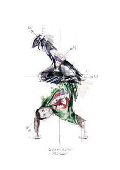 Scientific Break Dancing Drawings : Artist Florian Nicolle